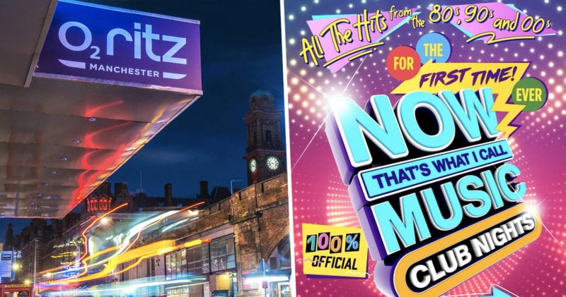 Now That's What I Call Music's club night comes to Manchester on Saturday, The Manc