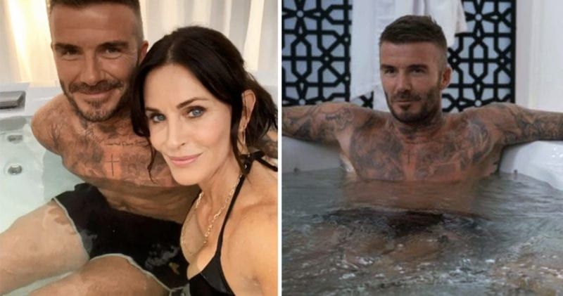 David Beckham and Courtney Cox go shirtless in a hot tub scene for Modern Family, The Manc