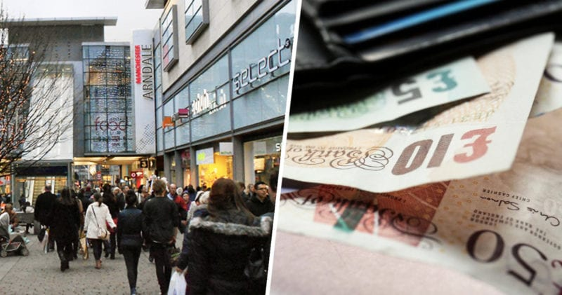 Envelopes with cash in being handed out across UK for Blue Monday today, The Manc