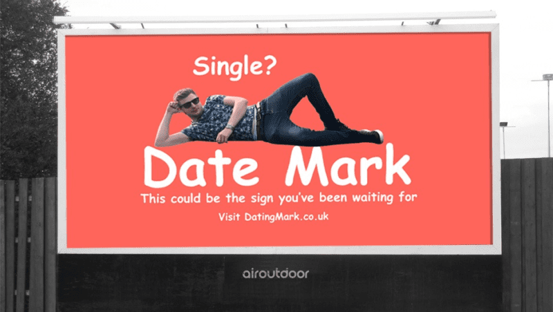 Guy sick of dating apps creates billboard and website to land love of his life, The Manc