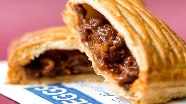 Greggs has launched the vegan steak bake in Manchester today, The Manc