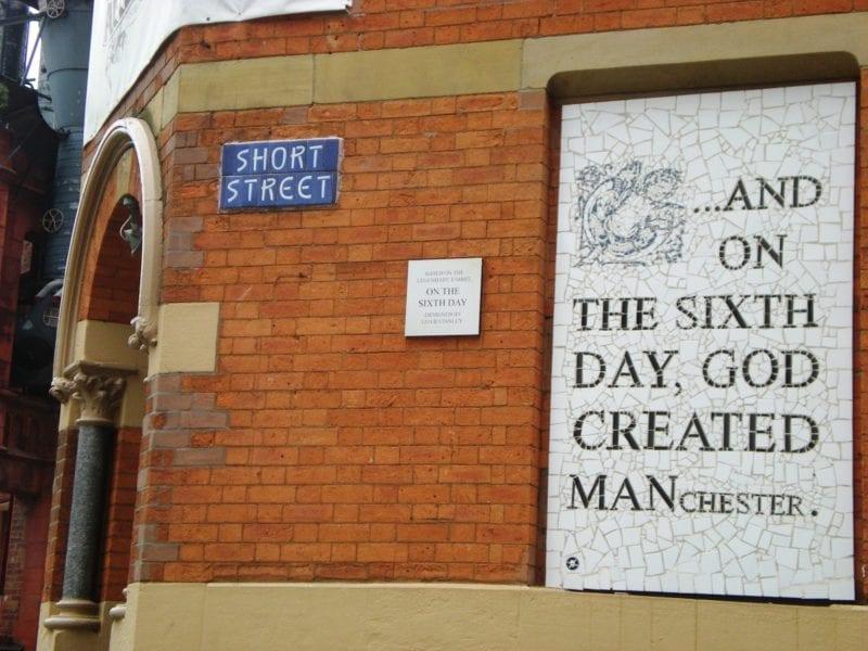 Someone has vandalised Mark Kennedy's famous Northern Quarter mosaic, The Manc
