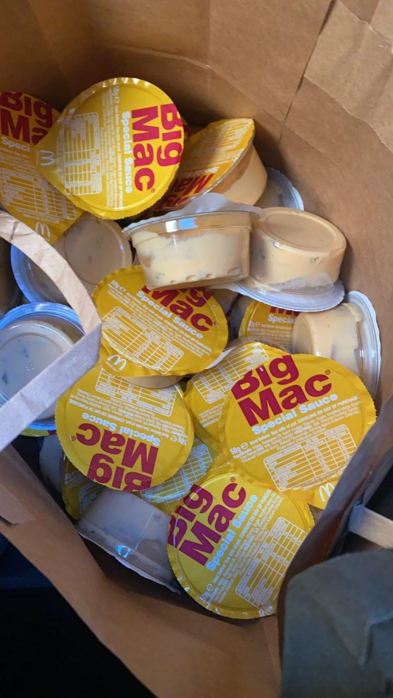 People stocking up on McDonald's Big Mac sauce pots encounter same issue, The Manc