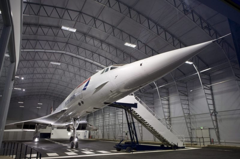 There's a party taking place below Concorde at Manchester Airport, The Manc
