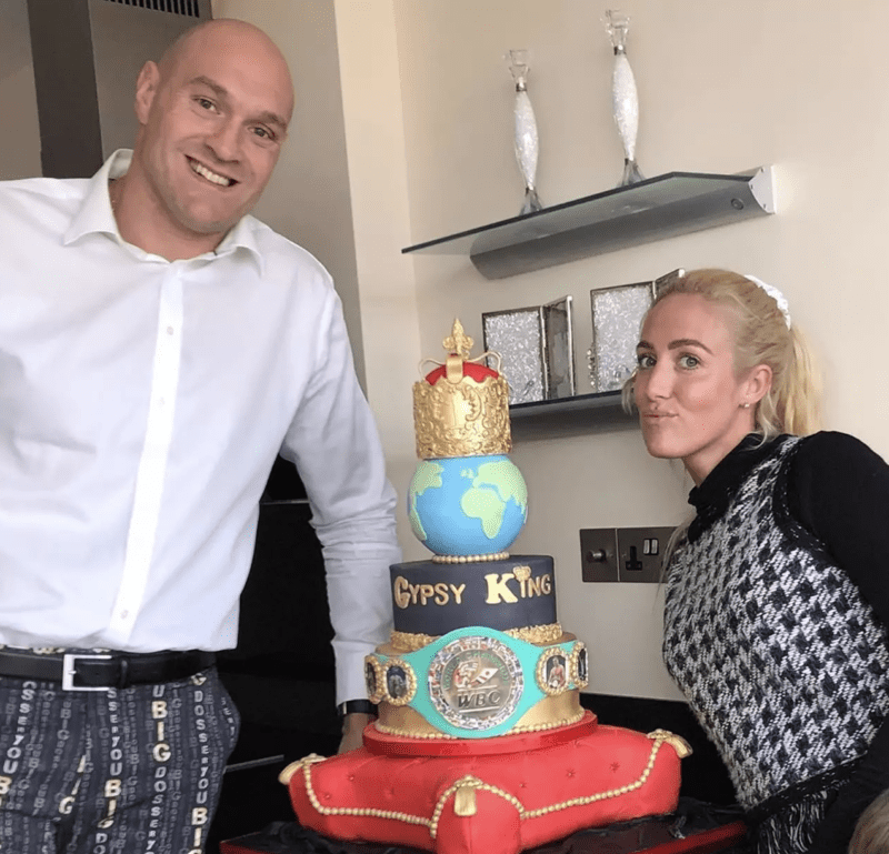 Tyson Fury's wife surprises the champ with amazing four-tier cake, The Manc