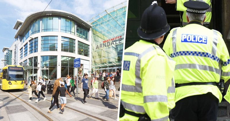 Police officers are performing a training exercise at Manchester Arndale tonight, The Manc