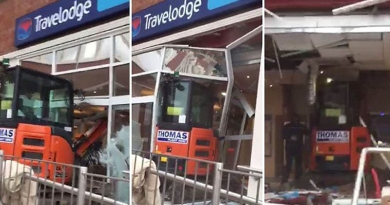 The digger driver who smashed up Liverpool Travelodge has been jailed, The Manc