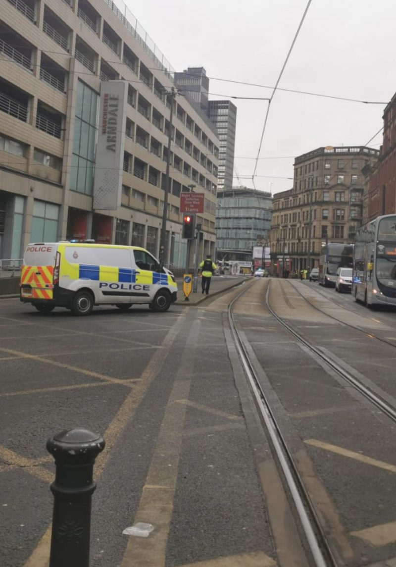 It appears someone just threw a salt container of Manchester Arndale, The Manc