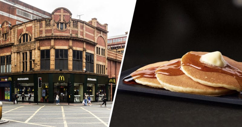 McDonald's serving pancakes ALL DAY for Pancake Day and UberEats are delivering them for free, The Manc