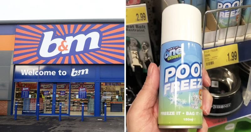 B&M is selling cans of 'poop freeze' for £1.99, The Manc