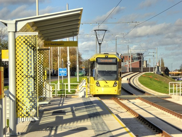 The opening date for the Metrolink Trafford Park Line has been confirmed, The Manc