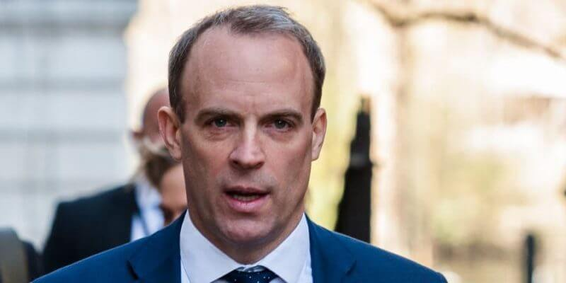 Dominic Raab will lead the country if Boris Johnson's condition deteriorates, The Manc