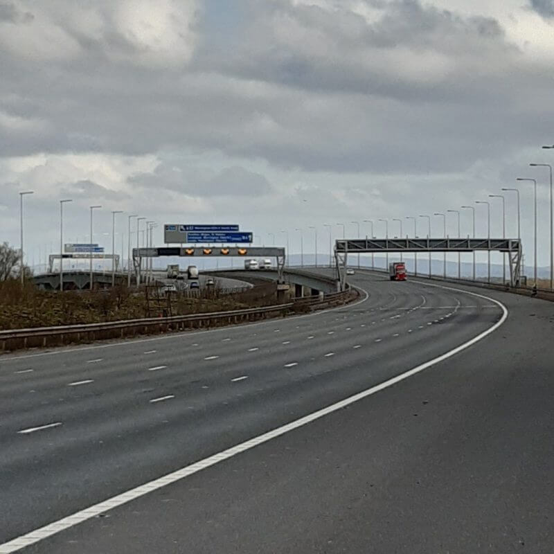 Cheshire Police share amazing photos of empty motorways as UK sits tight during lockdown, The Manc