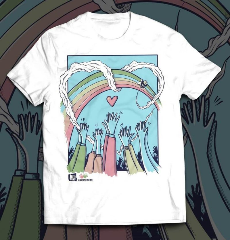 Hits Radio launch t-shirt line with all profits going to children in poverty, The Manc