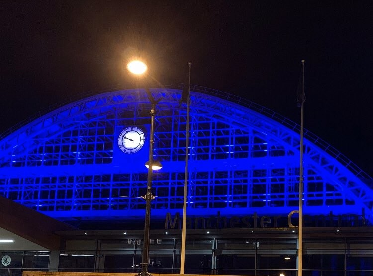Buildings across Manchester will light up blue tomorrow in support of the NHS, The Manc