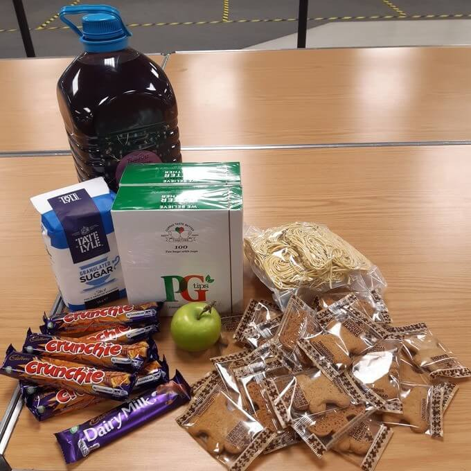 There are the alleged government food parcels being handed out in some areas, The Manc