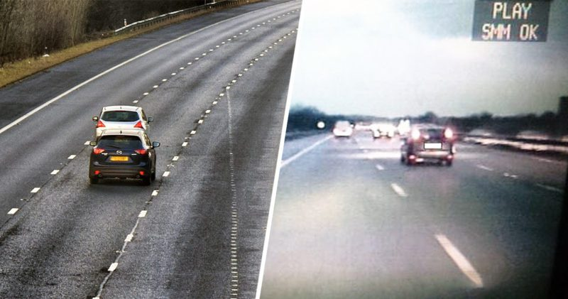 Someone has taken middle lane hogging on the M6 into their own hands, The Manc