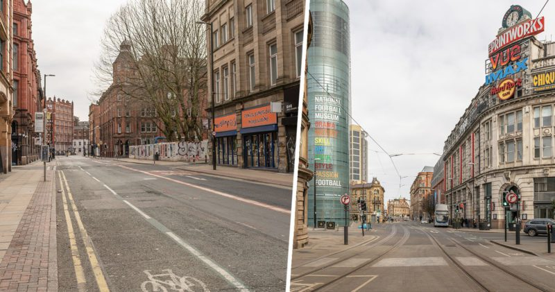 An eerie Saturday afternoon in a desolate Manchester city centre, The Manc
