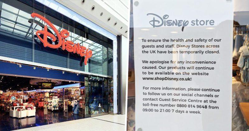 Disney has closed all of its UK stores amid coronavirus fears, The Manc