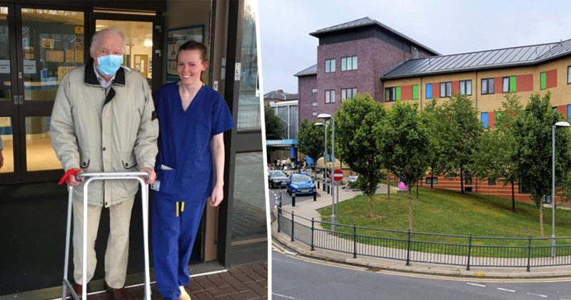 Mancunian grandpa says goodbye to NHS staff after recovering from 'COVID positive pneumonia', The Manc