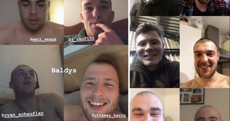 Lads in group chats are shaving their heads during UK lockdown, The Manc
