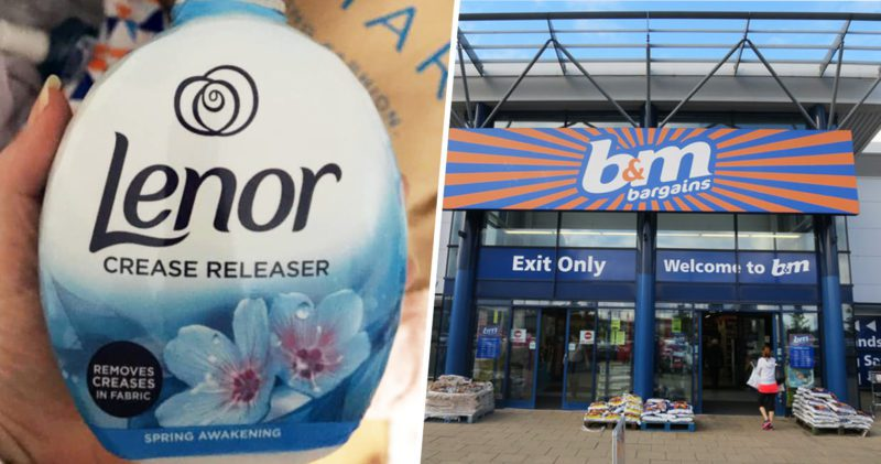 Someone has spotted a bottle of Lenor 'crease releaser' in B&M, The Manc