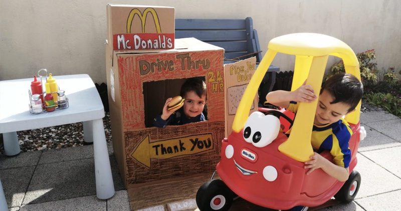 Mum recreates McDonald's Drive-Thru for her boys during UK lockdown, The Manc