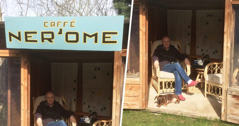 Wife builds husband his very own Caffè Ner'ome in the garden, The Manc