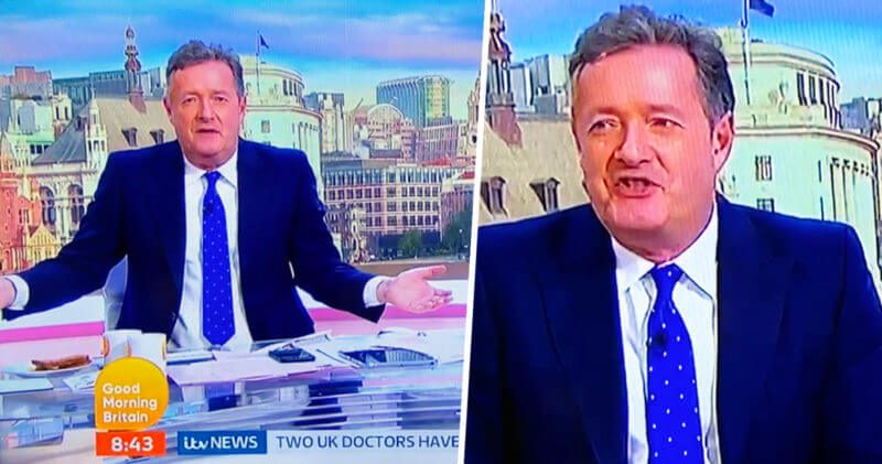 Piers Morgan just said 'bell end' on GMB and his reaction was hilarious, The Manc