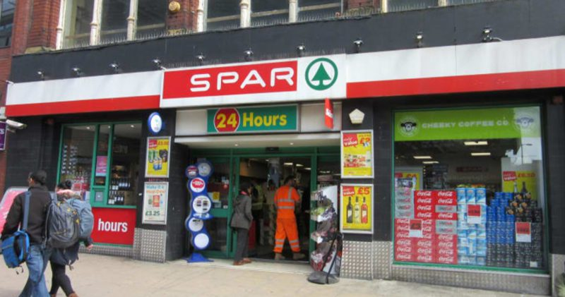 A sign warning of hiked price 'household items' has been spotted in a Manchester SPAR, The Manc