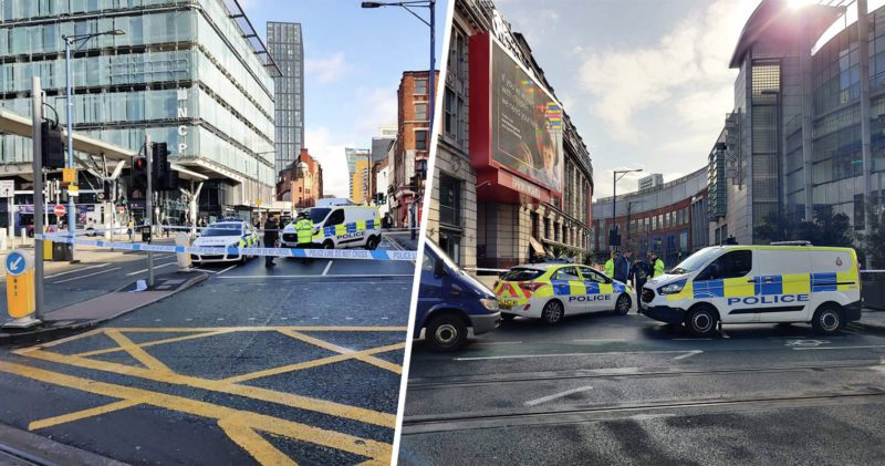 Two men in hospital after stabbing in Shudehill in Manchester city centre, The Manc