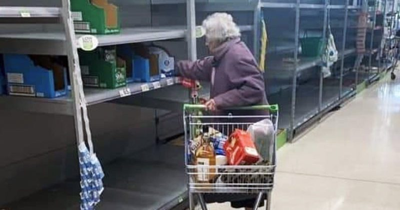 Photo of elderly lady in Asda goes viral after Coronavirus shopping chaos, The Manc