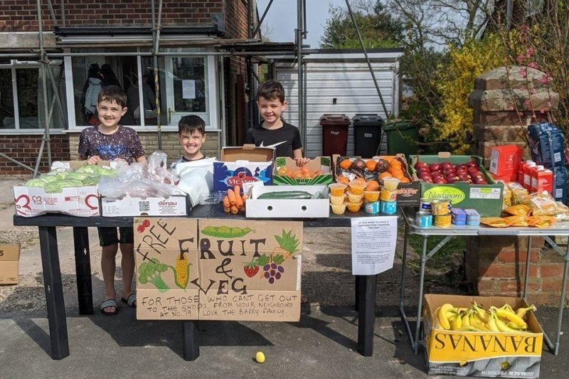 Three Bolton brothers running a free fruit and veg stall to help isolating neighbours, The Manc