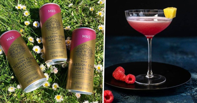 M&S has launched a new Pink Passion Star Martini can and it's only £2, The Manc