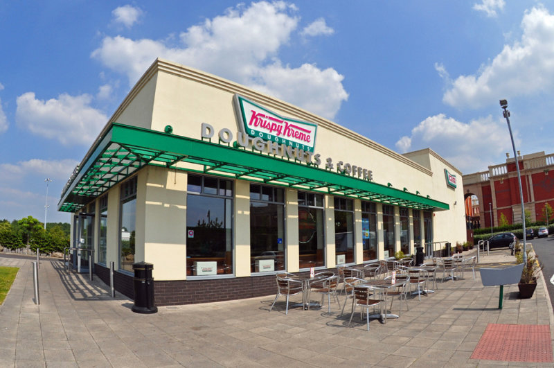 Krispy Kreme's Manchester drive-thru has now re-opened for NHS and emergency services, The Manc