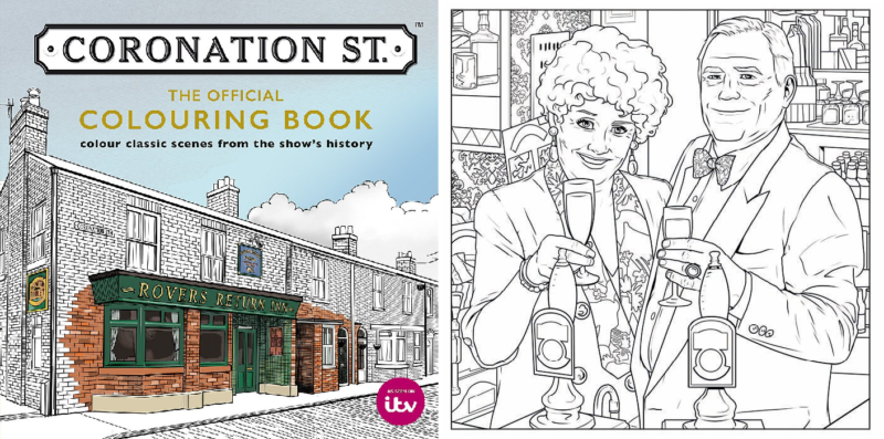 You can buy a Coronation Street adult colouring book, The Manc