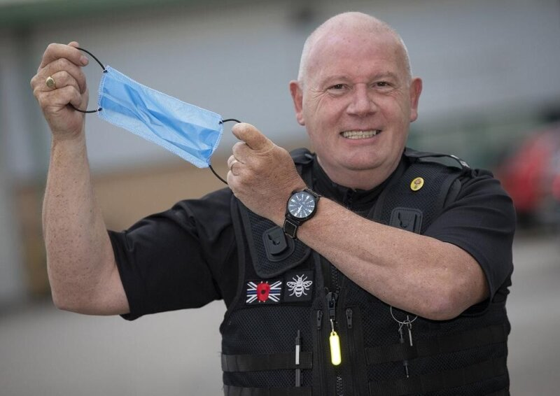 A GMP Sergeant has manufactured thousands of face masks for local care homes, The Manc