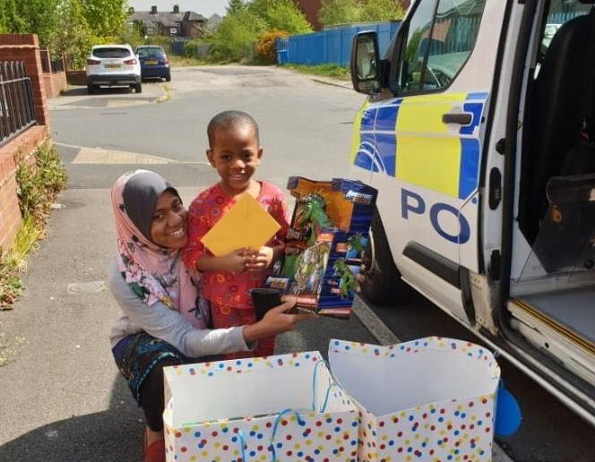 Greater Manchester Police step up after little boy's birthday presents are stolen from car, The Manc