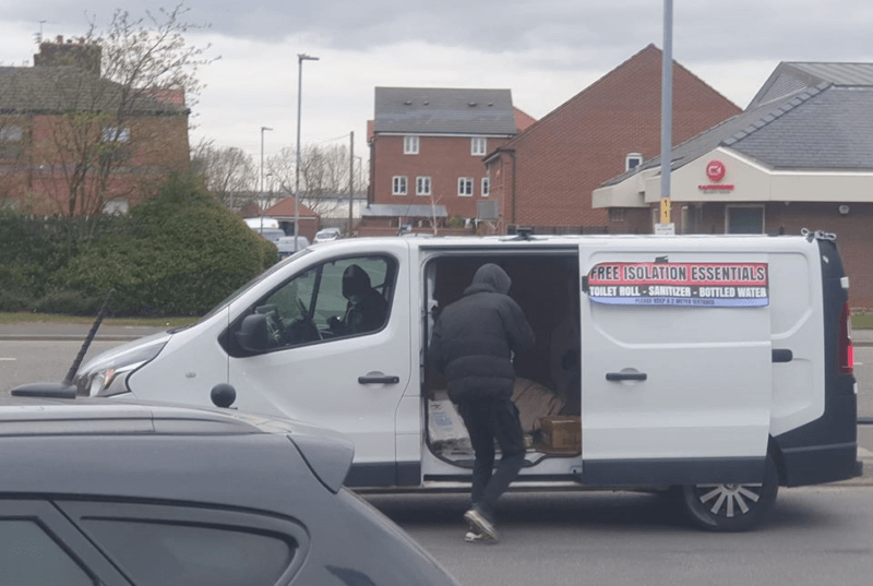 Some local heroes in Newton Heath are dropping off free 'isolation essentials', The Manc