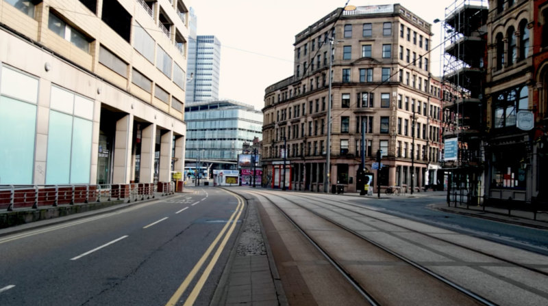Manchester city centre was a very different place this Easter weekend, The Manc