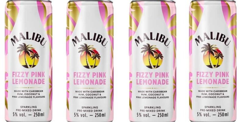 You can now buy cans of Malibu Fizzy Pink Lemonade in supermarkets, The Manc