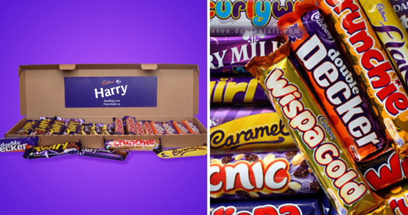 You can get Cadbury chocolate bar hampers delivered directly to your door, The Manc
