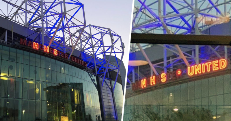 Manchester United has lit Old Trafford blue in classy NHS tribute, The Manc