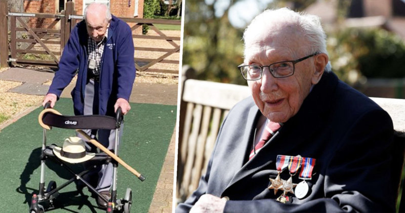 Donations top £12 million for 99-year-old Captain Tom Moore as army veteran completes final laps, The Manc
