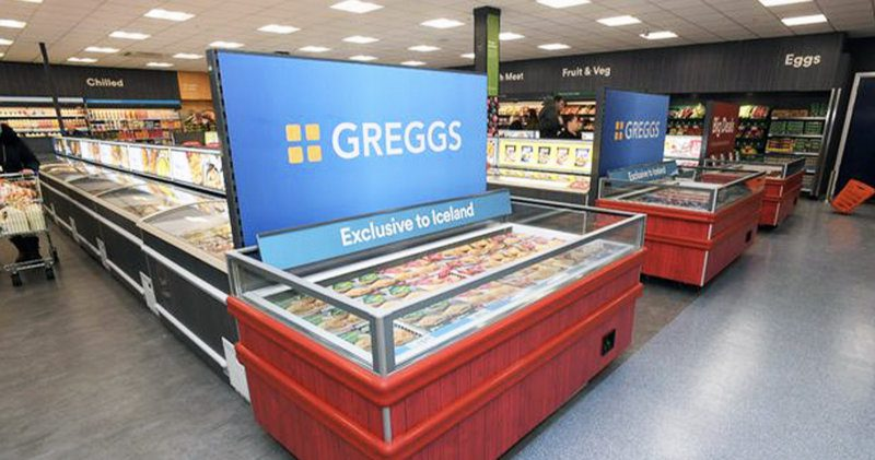 Iceland stores are increasing their Greggs stock while the bakery is closed, The Manc