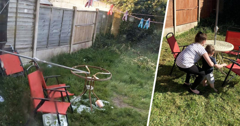 Local heroes transform the garden of a single mother targeted by online trolls, The Manc