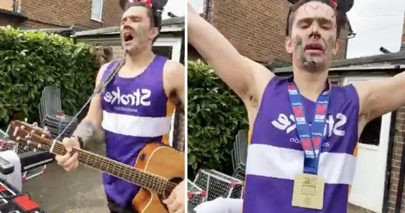 Local lad finishes treadmill Manchester Marathon and raises over £2,500, The Manc