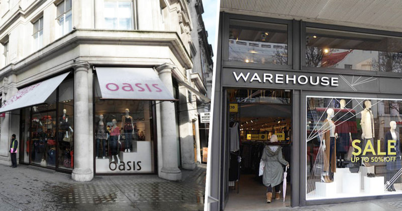 Fashion stores Oasis and Warehouse fall into administration, The Manc