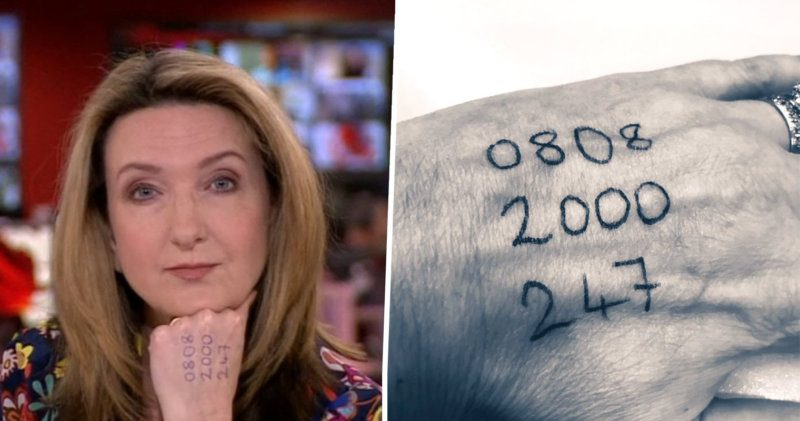 This is why Victoria Derbyshire presented the news with a number on her hand, The Manc
