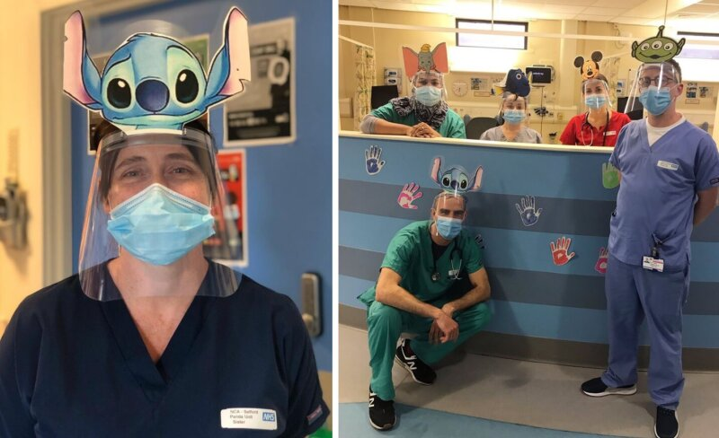 Staff at Salford Royal Hospital wear custom PPE to help kids feel a little less scared, The Manc